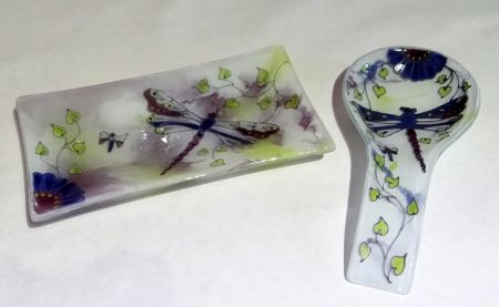Painting with Glass Enamels: Dragonfly