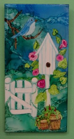 Alcohol Inks Project: Spring Birdhouse