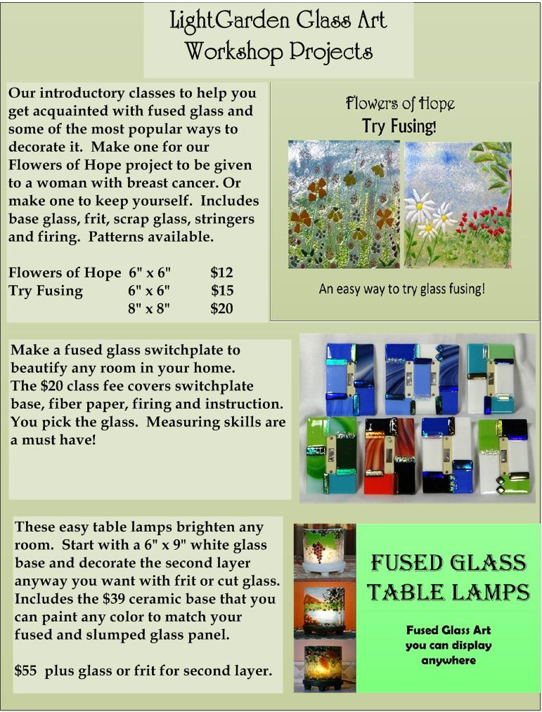 Lightgarden Glass Art Studio Classes